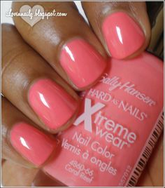Nail Color of the summer-- Sally Hansen Xtreme Wear in Coral Reef