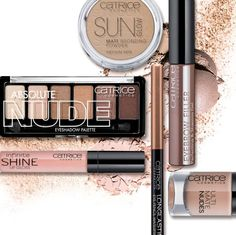 NUDE MOOD by Catrice cosmetics. Featuring nude neutrals palette, highlighter, sun glow bronzer, shine lip gloss and eyebrow gel. Best Makeup Brush Brands, Best Makeup Brushes, Catrice Makeup, Beauty Book, Cruelty Free Makeup, Makeup Essentials, Makeup Forever, Makeup Palette, Colorful Makeup