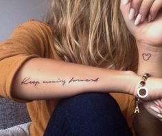 121 Trending Forearm Tattoos & Meaning Forearm tattoo tatuagem tatuagem cascavel tatuagem de rosa tatuagem delicada tatuagem e piercing manaus tatuagem feminina tatuagem moto clube tatuagem no joelho tatuagem old school tatuagem piercing tattoo shop Girly Tattoos, Wörter Tattoos, Quote Tattoos Girls, Pretty Tattoos, Tattoo Girls, Body Art Tattoos, Small Tattoos, Tiny Tattoo, Tattos