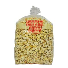 - Medium Kettle Corn Bags by Gold Medal Products Co. Save your Kettle Corn in these new 2 mil thick poly bags. Packed bags per case with twist ties to close. Also available in large Popcorn Supplies, Corn Bags, Cinnamon Almonds, Kettle Corn, Gourmet Popcorn, Food Service Equipment, Product Offering, Served Up, Slow Cooker