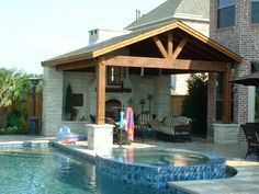 Stunning Outdoor Pool And Jacuzzi With Patio Pavers Also Patio Furniture And Outdoor Cushions With Patio Cover Ideas Plus Outdoor Fireplace And Enclosed Patio Ideas Wood Trellis Ideas Exterior small furniture best furniture furniture raleigh Wicker Patio Furniture, Patio Dining Chairs, Parasols, Patio Umbrellas, Wood Trellis, Trellis Ideas, Indoor Vegetable Gardening, Enclosed Patio, Backyard Patio