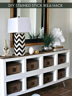 Make It: A Simple IKEA Shelf Gets A Paint Stick Makeover » Curbly | DIY Design Community