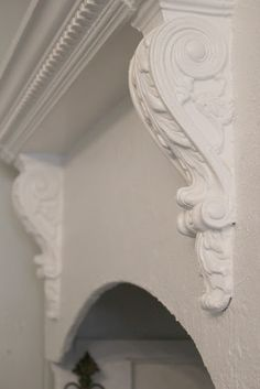 mantle above stove