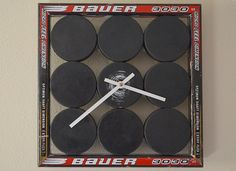 Hey, I found this really awesome Etsy listing at https://www.etsy.com/listing/167430828/hockey-puck-clock