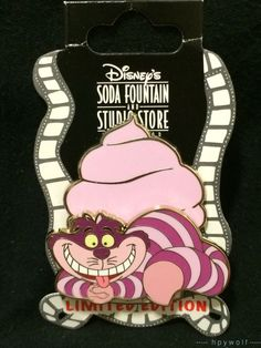 DSF Disney CHESHIRE CAT PINK CUP CAKE Alice in Wonderland Cupcakes LE 300 Pin