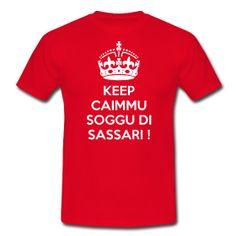 Dettagli del prodotto Fronte Retro Destra Sinistra KEEP SASSARI 2 Magliette  classiche da uomo T- 0912396a68a5