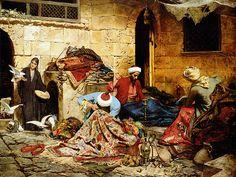 Carpet Manufacturers in Cairo by Rudolf Swoboda Carpet Manufacturers, Arabic Art, Italian Painters, Arabian Nights, Islamic Art, Military History, Cairo, Art History, Black History