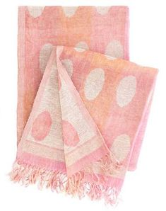 Polka Dotted Throw - Pink and Orange