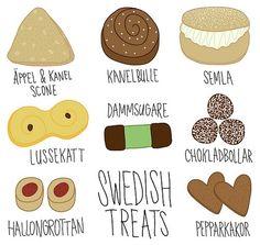 Treats and Sweets Vocab | Swedish - Svenska