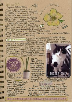Love this visual diary page