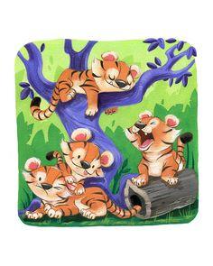Stampa artistica cuccioli di tigre di flimflammery su Etsy