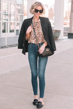3 ways to wear 1 leopard blouse