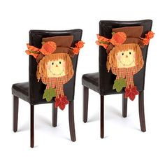 Dining room decor just got so much happier! Our Scarecrow Boy Chair Covers are such fun pieces to accent your home with! #kirklands #harvest