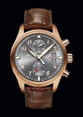 IWC Spitfire Chronographe IW387803 Or Rouge - Bracelet Alligator Brun