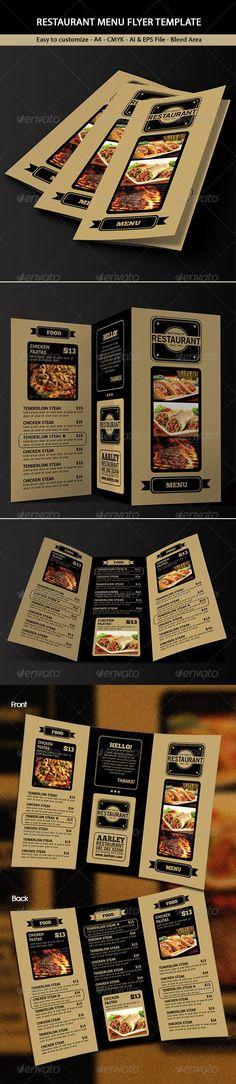 Trifold Restaurant Menu Template