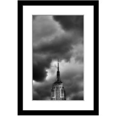 Wendover Art Group Empire State Building 1 Photograph (€230) ❤ liked on Polyvore featuring home, home decor, wall art, art, decor, wall decor, black, borders, picture frame and black white wall art