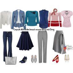 Capsule wardrobe based around navy and grey
