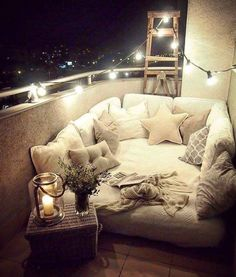Comfy outdoor lounge