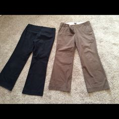 JCrew city pants womens ( 2 pairs ) Well made gently worn, these are a 12 Short Jcrew Pants Boot Cut & Flare