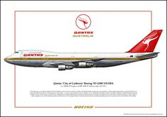 Qantas City of Canberra Best Airlines, Let's Have Fun, Boeing 747, Aviation, Aircraft, City, Airplanes, Trains, Posters