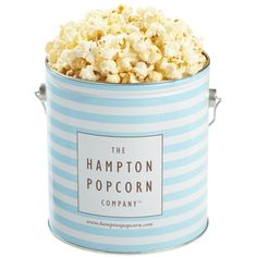 "The Hampton Popcorn Company™ ""White Cheddar Corn"" Hampton Blue Tin, 1... (990 RUB) ❤ liked on Polyvore featuring home, kitchen & dining, food storage containers, food, fillers, food and drink, comida, decor and tin food storage containers"