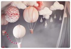 déco, magie, enfant Montgolfières, hot balloon