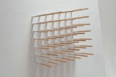 Eva Francová, 1604/02, wood, color, 40 x 40 x 12 cm, 2016