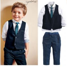 Cheap boys suits, Buy Quality suit for boys directly from China kids tales Suppliers: KIDS TALES Wedding Suits for Boys Set Autumn 2017 Children Leisure Clothing Sets Kids Baby Boy Suit Vest Gentleman Clothes Boys Suit Vest, Baby Boy Suit, Baby Boy Dress, Blazer For Boys, Vest And Tie, Baby Boy Outfits, Baby Boys, Kids Boys, Toddler Boys