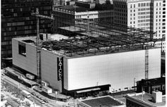 Expansion of Eaton's Centre on Granville in 1980. Two floors were being added to the existing store. Photograph by: Ian Lindsay, Vancouver Sun