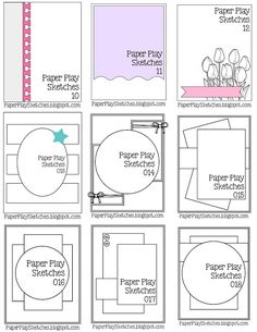 Sheet 2, Paper Play Sketches: Sketch Sheets to Print