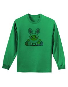 TooLoud Chick In Bunny Costume Adult Long Sleeve Shirt