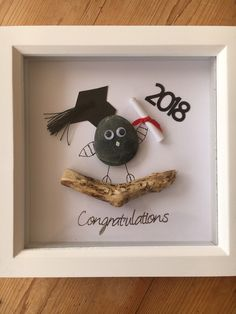 Graduation pressie #etsy #art #mixedmedia #graduation #homedecor #wallhanging #cutepictures #handmade #madeinscotland #pebbleart