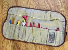 How to: Create a Simple, Custom Tool Roll | Man Made DIY | Crafts for Men | Keywords: sewing, DIY, tools, fabric