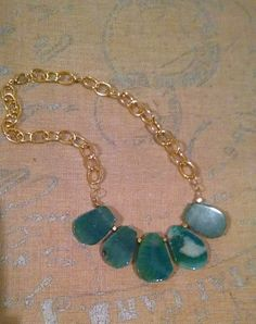Hey, I found this really awesome Etsy listing at https://www.etsy.com/listing/216927489/turquoise-chunky-chain-statement