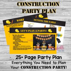 Construction Party, Construction Birthday Party Planning Guide, Boy Birthday Party