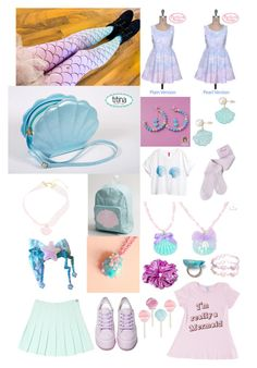 """""""Mermaid Fairy Kei"""" by triffany ❤ liked on Polyvore"""