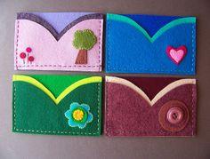 Felt card holders by soleilgirl, via Flickr