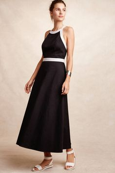 Two-Tone Halter Dress - anthropologie.com