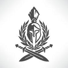 Sparta coat of arms vetor e ilustração royalty-free royalty-free Leaf Tattoos, Body Art Tattoos, Sleeve Tattoos, Cool Tattoos, Sparta Tattoo, Paar Tattoo, Geniale Tattoos, Free Vector Art, Vector Graphics