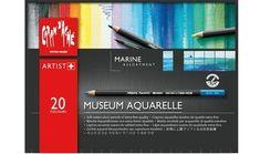 Caran d'Ache Museum Aquarelle Water Colour Pencils - 20 Assorted Marine Colours