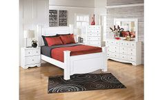 Weeki Poster Bedroom Set- this bed is beautiful and not too big for apartment life!