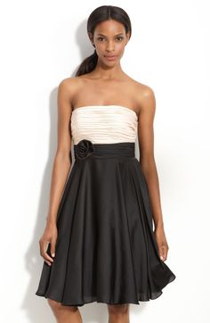 Js Collections Pleated Strapless Dress @Lyst