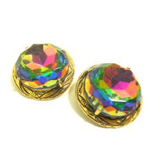 60s Crystal Clip Earrings