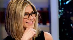 If you have a heart-shaped face like Jennifer Aniston, look for frames that are square or rectangular in shape to offset a narrow chin.