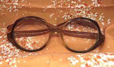 """1950s Vtg """"VAM"""" Reading EyeGlasses Eyeglasses Round Plastic +2.75 Brown Retro #VAM #Round"""