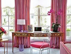 25 Modern Home Office Designs : for the one who loves pink. Decorating Ideas,home office design ideas Home Office Design, Home Office Decor, House Design, Home Decor, Home Design Living Room, Living Room Grey, Office Ideas, Pink Home Offices, Casa Clean