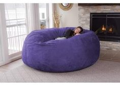 Replace your old couch with the Giant Bean Bag Chair. This bean bag chair comes with a dual layer design that allows you to remove the cover for Big Bean Bag Chairs, Giant Bean Bag Chair, Bean Bag Sofa, 2 Person Bean Bag Chair, Big Bean Bags, Giant Bean Bags, Love Sack Bean Bag, Chill Bag, Bedrooms