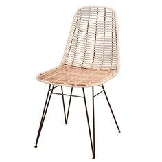Designstuhl Kylo Rattan natur #hygge #rattanstuhl #rattandesign #bambusstuhl #skandinavisch