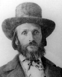 # Isaac Haight. Acusado de participar do 'Massacre da Montanha Meadow' em 1857, em Utah, USA. (The Mountain Meadows massacre).