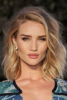 rosie huntington whiteley | wispy long bob lob soft texture
